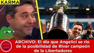 ARCHIVO: El día que Angelici se rio de la posibilidad de River campeón de la Libertadores