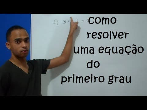 Como resolver equação do 1º grau