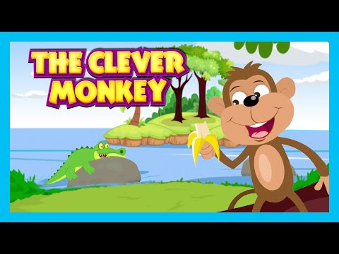 THE CLEVER MONKEY STORY | Bedtimes Story For Kids In English | Monkey And Crocodile Story For Kids