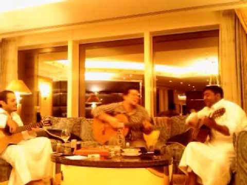 Dubai Burj Al Arab Friends And Amir Party Guitar Flamenco