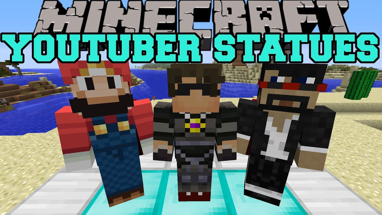Minecraft Youtuber Statues