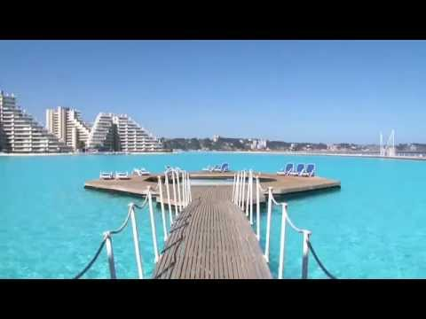 The World Largest San Alfonso Del Mar Resort Swimming Pool Youtube