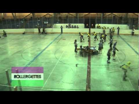 Roller derby footage - High angle