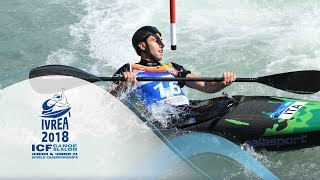 2018 ICF Canoe Slalom Jnr & U23 World Championships Ivrea / Jnr Heats – C1m, K1w