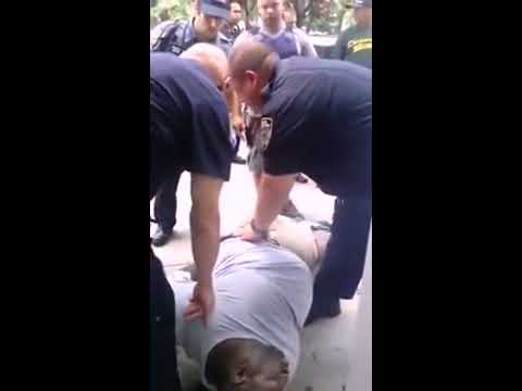 Unseen Video Of Eric Garner Death - Over 7 minutes handcuffed not breathing NYPD chokehold AFTERMATH
