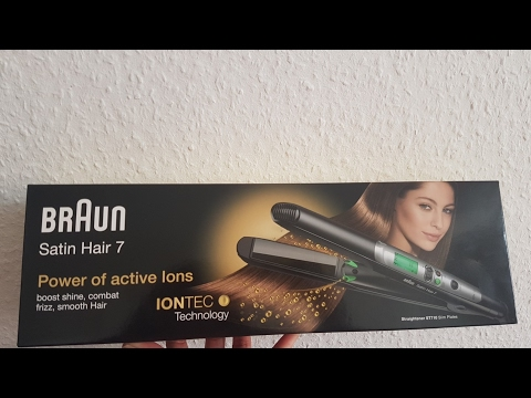 BRAUN satin hair 7 straightener ST710 review and first try