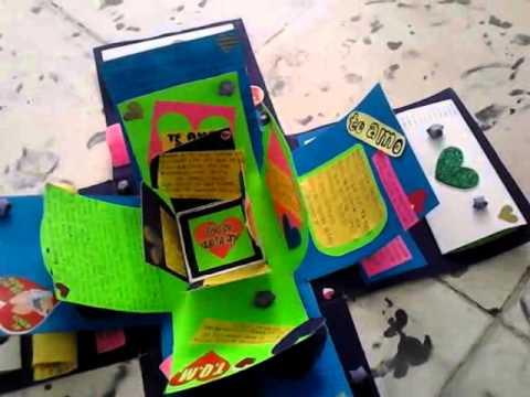 Cajita explosiva o sorpresa :) para novio - YouTube