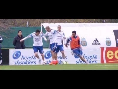 ¡Cómo corría Messi en el entrenamiento de Sabella! || Mundial 14 || Argentina