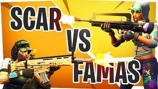 LEGENDARY SCAR vs LEGENDARY FAMAS - Fortnite Battle Royale