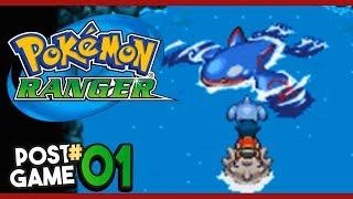 Pokemon Ranger Post Game Part 1 KYOGRE! Gameplay Walkthrough