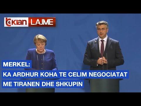 Merkel Ka ardhur koha te celim negociatat me Tiranen dhe Shkupin