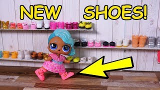 Lol Surprise Dolls Go Shoe Shopping At Mall!
