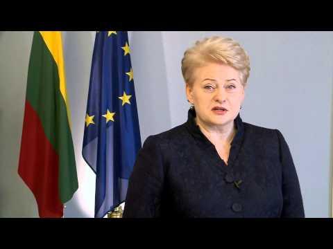 Lithuanian President Dalia Grybauskaite - congratulations to Georgia