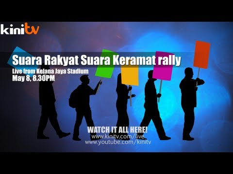 Live from Kelana Jaya Stadium: Suara Rakyat Suara Keramat rally