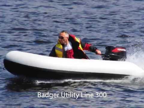 лодка badger utility line 300