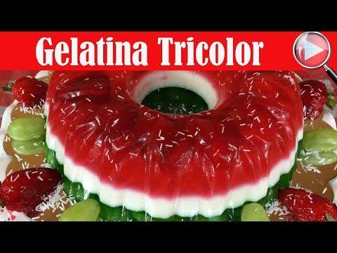 Gelatina Tricolor con Frutas - Recetas en Casayfamiliatv