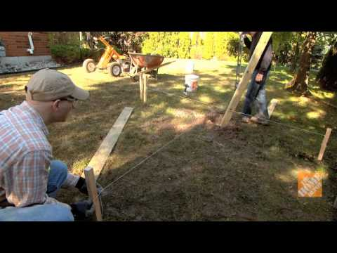 C mo colocar postes de cerca youtube - Como preparar un jardin ...