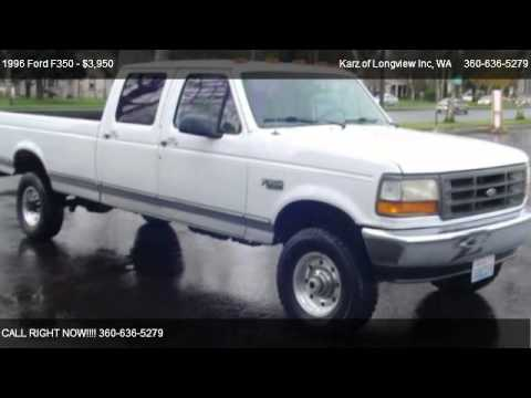 F150 For Sale >> 1996 Ford F350 CREW CAB, LONG BOX, 4X4 - for sale in Longview, WA 98632 - YouTube