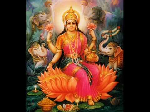 Sowbhagya Lakshmi Ravama - Lakshmi Aarti With Lyrics video