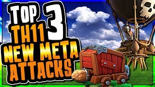TOP 3 NEW META TH11 ATTACKS USING SIEGE MACHINES | Clash of Clans
