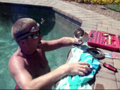 how to replace a pool light bulb lamp youtube