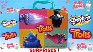 Surprise Toys Trolls Shopkins Num Noms Blind Bags Opening Review