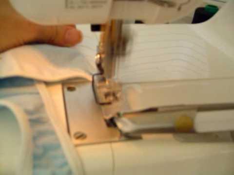 Como pegar un elastico con collareta