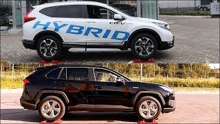 2019 Honda CR-V Hybrid Real Time AWD vs new 2019 Toyota Rav4 Hybrid AWD-i - 4x4 test on rollers
