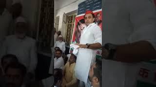 Umar Ali Khan (Ex MLC) Speech @ Behat, Saharanpur (U.P)  India