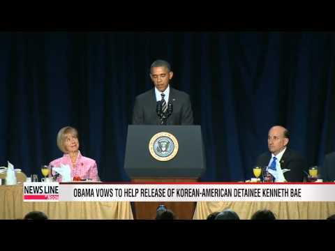 U.S. President Obama calls for detained American Kenneth Bae to be released