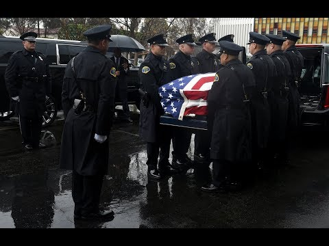 Funeral service for Fallen Pomona officer Greggory Casillas