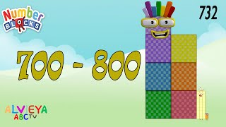 Count 700 - 800 with Numberblocks - Fun way to Counting Numbers
