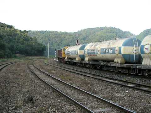 SRT Loco 4527 on Cement train passing though Hin Lap Curve