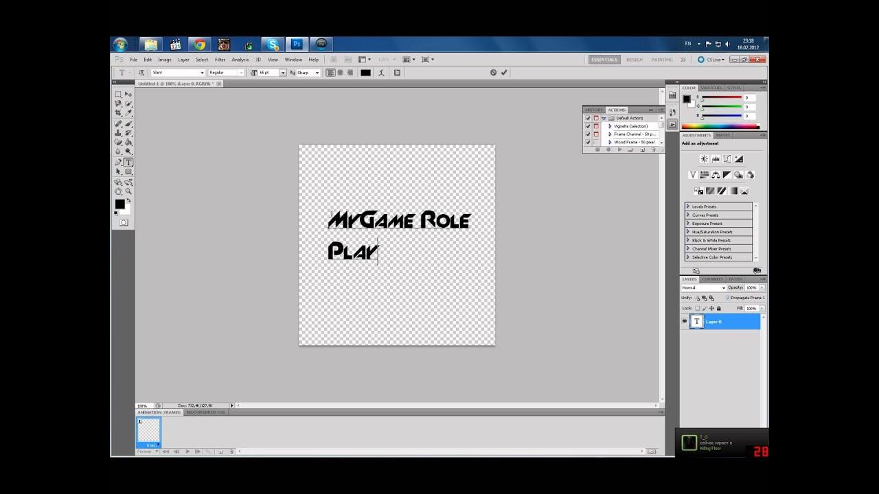 Как в фотошопе cs6 сделать обводку текста в фотошопе