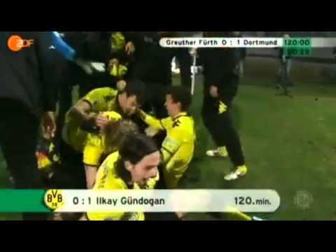 Greuther Fürth - Borussia Dortmund 0:1 Ilkay Gündogan 120. Minute Kommentator raste aus