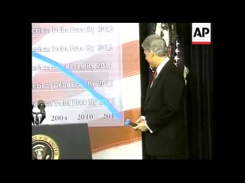 USA: WASHINGTON: BILL CLINTON'S FINAL YEARLY BUDGET