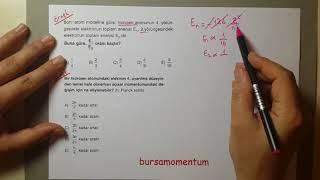 bohr atom modeli soru çözümü