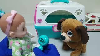 강아지 병원놀이 영상 -- sun baby tv - Toy video channel