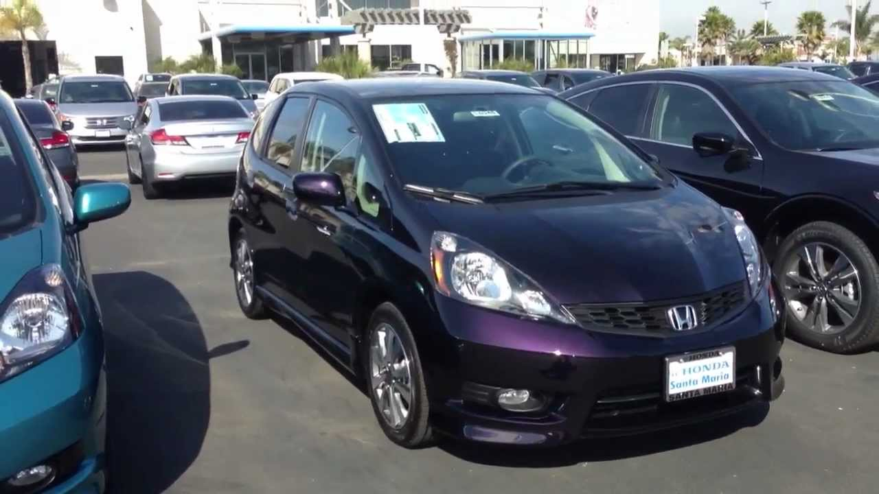 2013 honda fit sport midnight plum pearl youtube