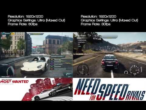 NFS Most wanted vs. NFS Rivals (Graphics) PC