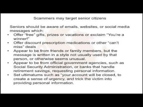 MS-ISAC Video Newsletter Series June 2013: Keeping Senior Citizens Safe Online