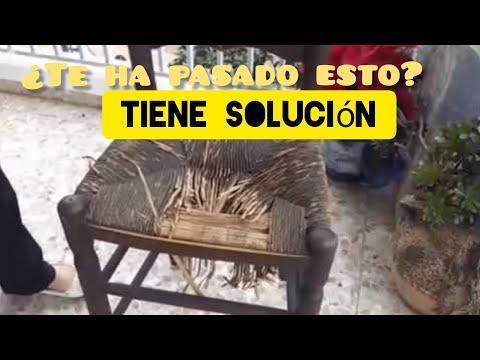 Arreglar un asiento de silla con cuerdas