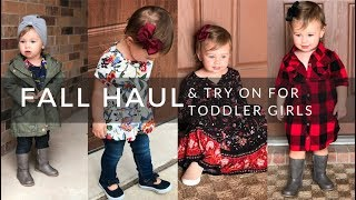 Toddler Girl Fall 2017 Haul & Try On! | Fall Clothing Haul | Toddler Girl Outfits