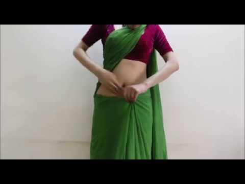 How To Wear Deepika Style Bollywood Saree-hot Indian Sari Draping wrap Saari video