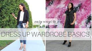 Easy Ways to Dress Up Wardrobe Basics   Fair Indigo   Organic Fashion Lookbook