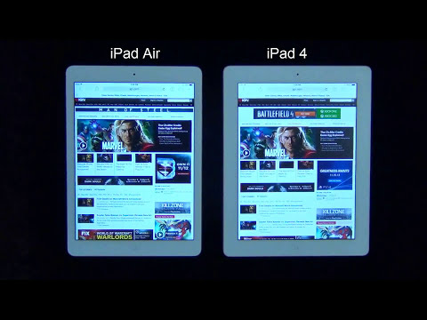 iPad Air vs iPad 4 Web Browser Speed Test