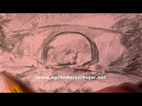 Dibujo de paisaje a lápiz paso a paso - Cómo dibujar paisajes