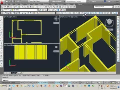MODELADO DE UNA CASA EN AUTOCAD 3D 1 DE 2