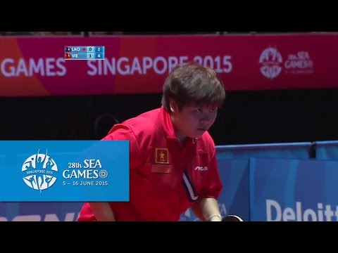 Table Tennis Women's Team Vietnam vs Laos | 28th SEA Games Singapore 2015