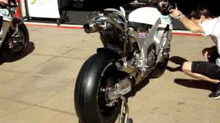 Moto GP Bikes Get Warmed Up